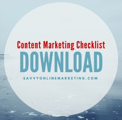Download content marketing checklist