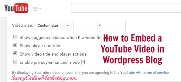 How to Embed a YouTube Video in WordPress Blog